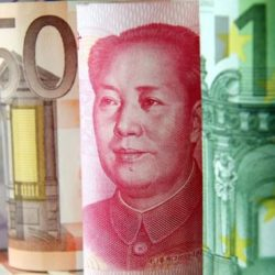 China sets yuans central parity rate against Euro at 7.9980, highest in 10 years